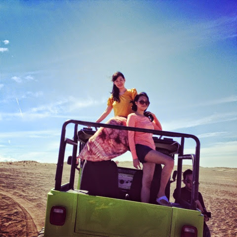 Trisha Sebastian with April Belcher in Ilocos Sand Dunes