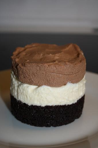 Triple chocolate mousse dessert