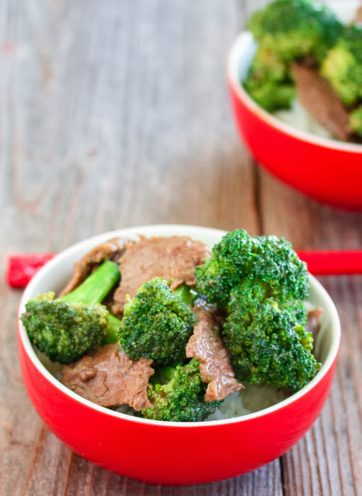 close-up photo of a bowl of Beef with Broccoli