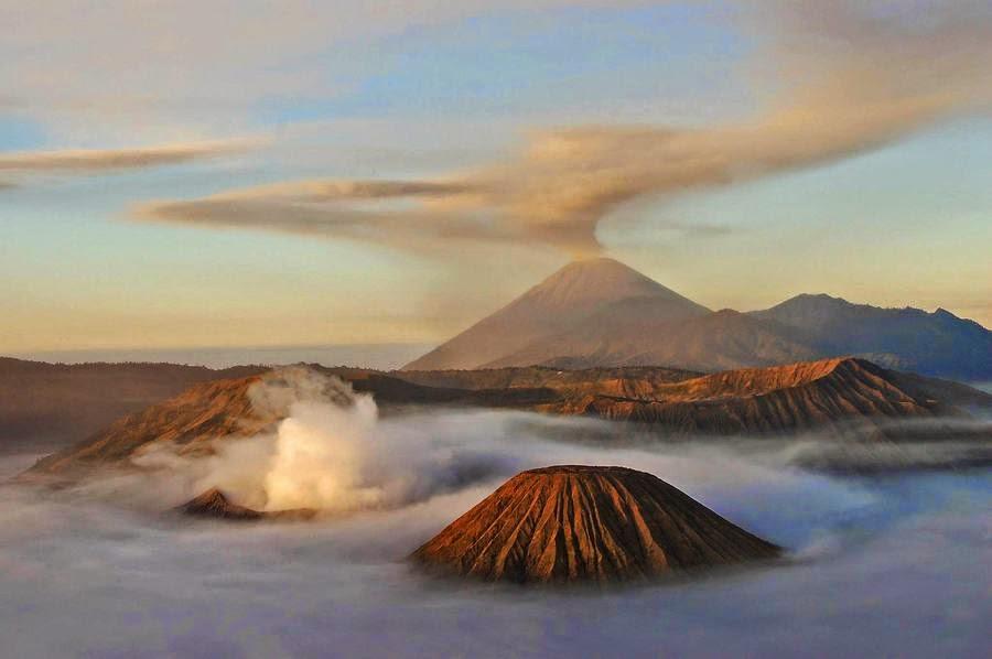 Monte Bromo, Isla de Java, Indonesia, otra de las maravillas naturales del mundo