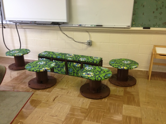 13 Moved into the classroom with the matching stools/mini tables I ...