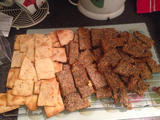 Fennel & Chilli Seed crackers, Stilton & Poppy Seed Crackers