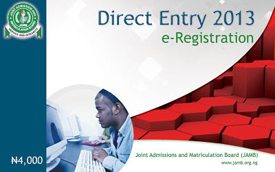 JAMB Direct Entry registration 2013 / 2014 form