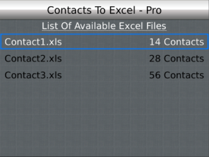 Contacts To Excel Professional v2.0