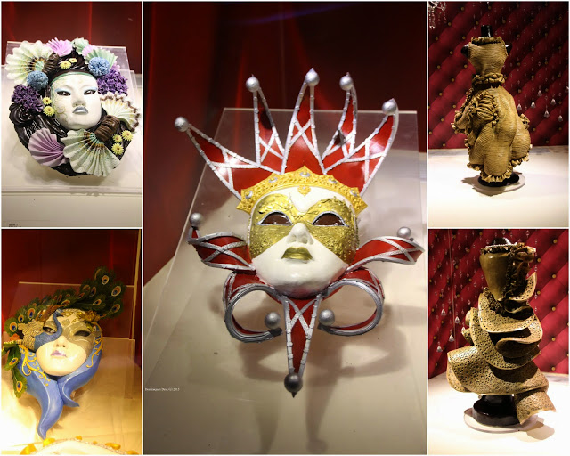 Masks and statues made of Chocolate