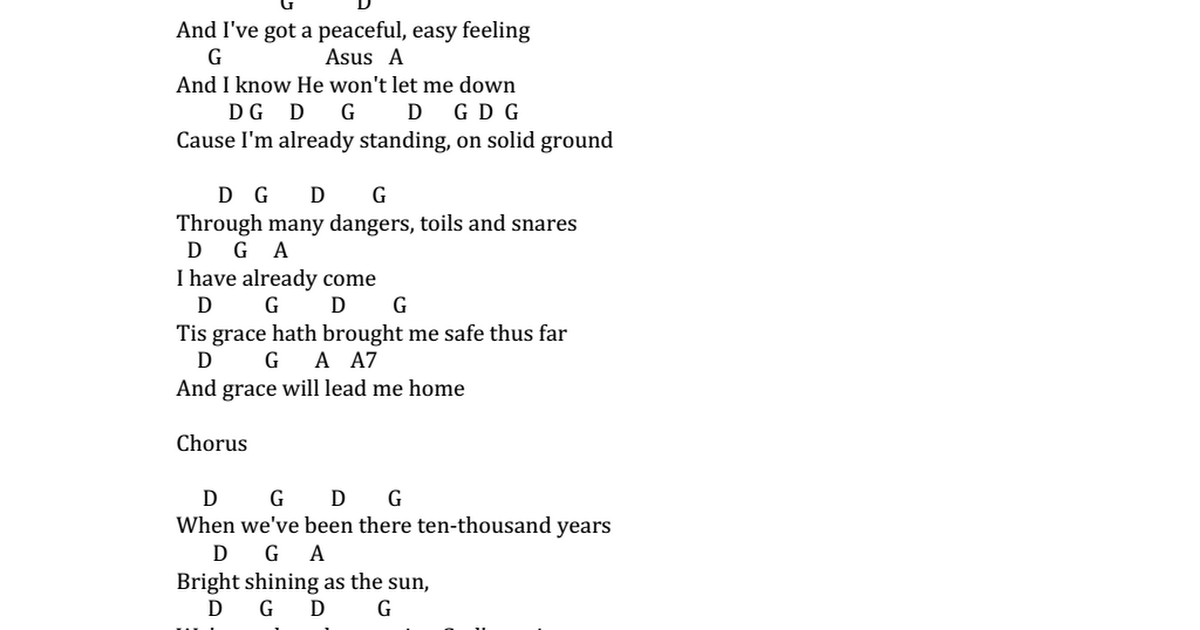 Amazing Grace Peaceful Easy Feeling chords.docx - Google Drive