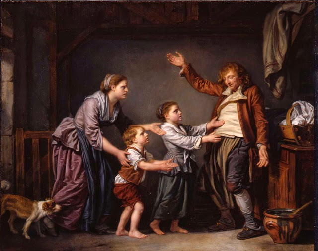 Painting The Drunken Cobbler, subject of Art and Beer event at Portland Art Museum with 5 breweries inspired to create a beer based on this art! Jean-Baptiste Greuze (French, 1725-1805), The Drunken Cobbler, 1780/1785, oil on canvas, Gift of Marion Bowles Hollis, no known copyright restrictions, 59.1