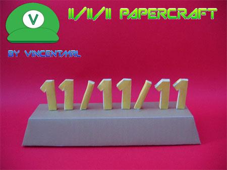 11 11 11 Papercraft