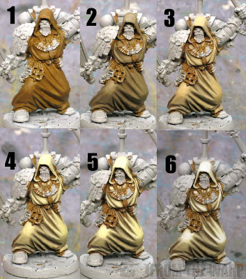 How to paint Dark Angel robes