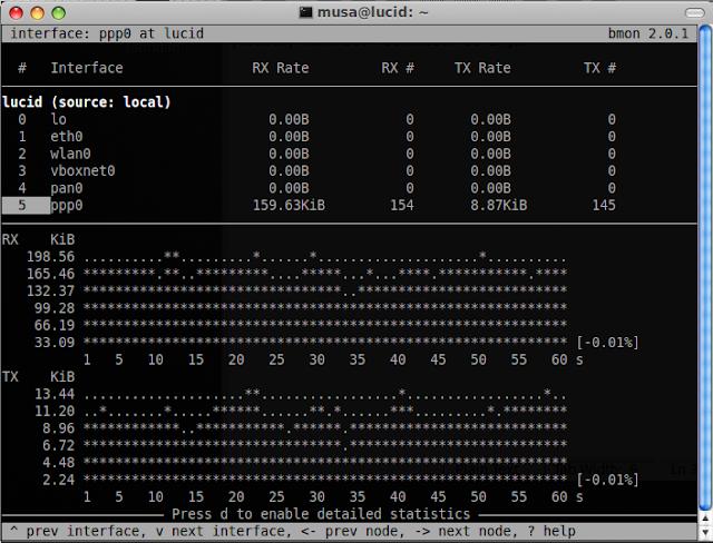 Bmon - Bandwidth Monitor