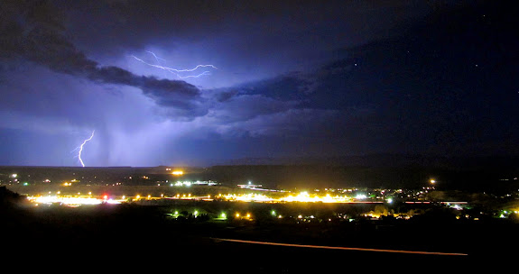 Lightning over Price, Utah