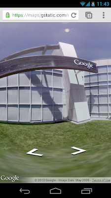 Google Street View im Browser auf Mobil