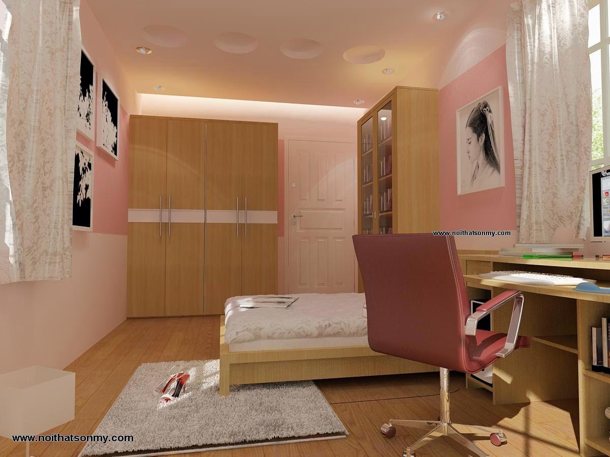 Phòng ngủ với tông màu sáng
