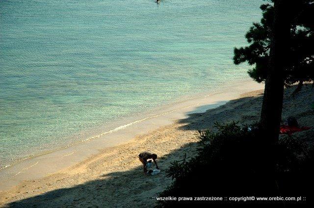 Plaża Trstenica zacieniona czesc