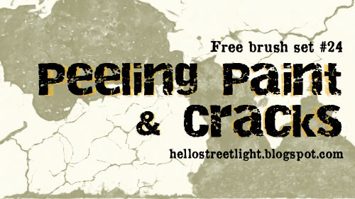 Free Peeling paint and Crack Photoshop brushes