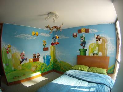 Imagen de una habitación para fans de Mario