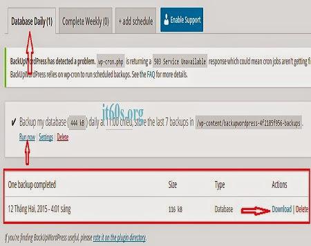 Cách sao lưu trang web tự động đơn giản trên Wordpress 6