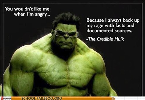 photo of the incredible credible hulk