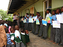 Then, after school we had a big assembly just to show of the paintings and reward the winners.