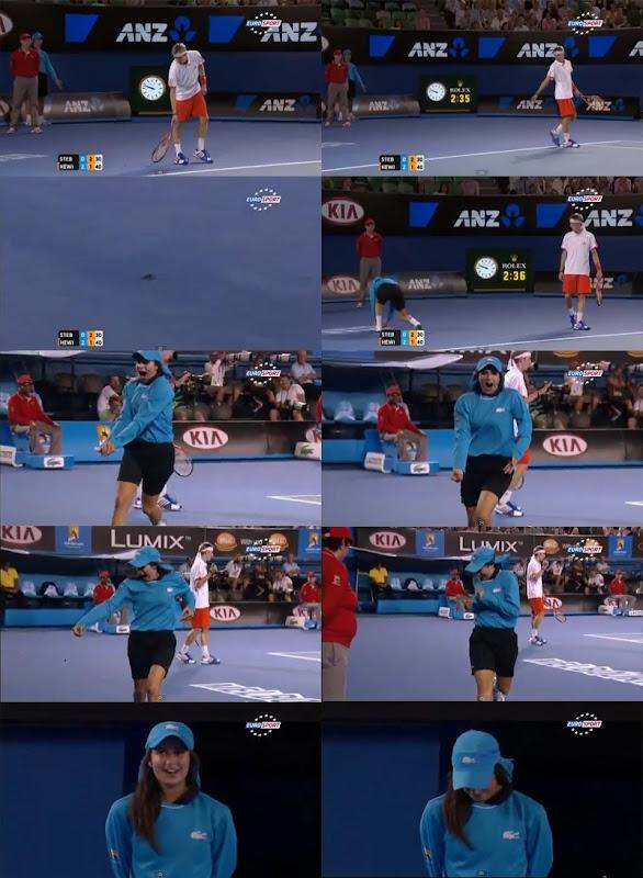 【動画】全豪オープンテニス、ボールガールの虫退治が可愛い