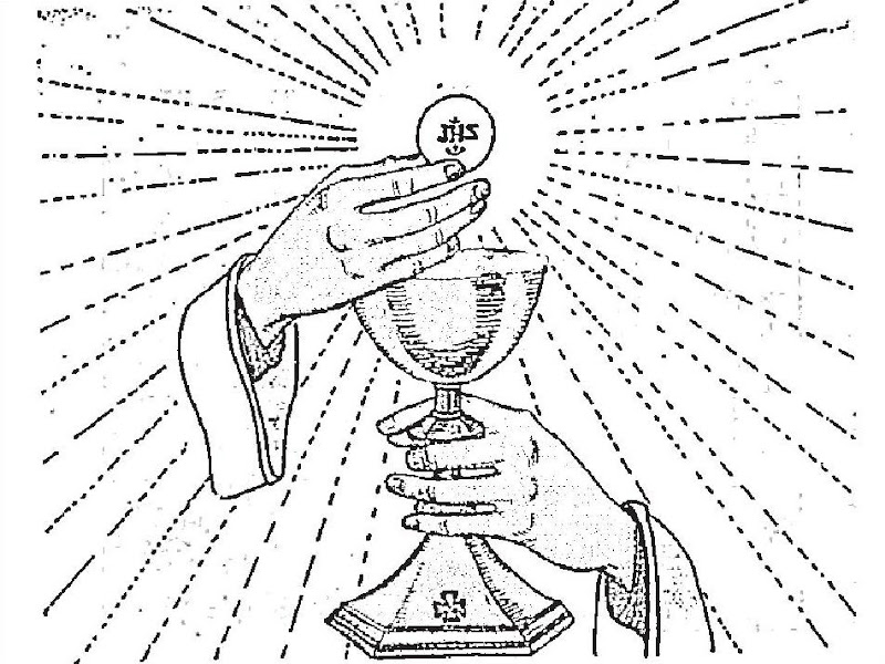 Jesús Eucaristía para colorear