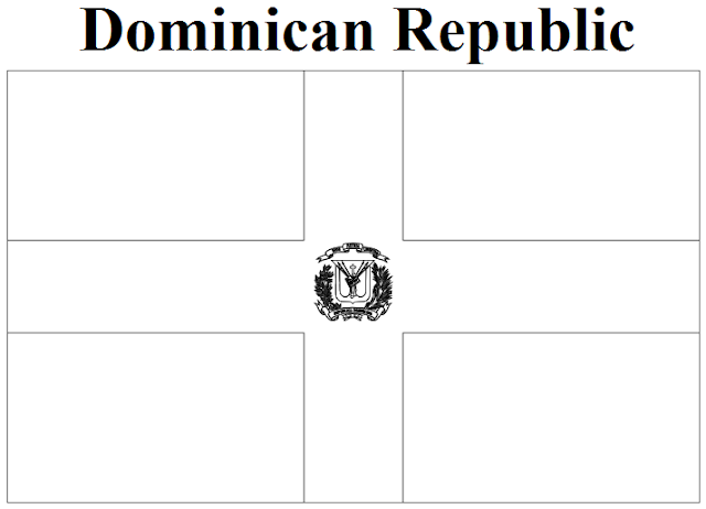 Geography blog dominican republic flag coloring page for Dominican republic coloring pages