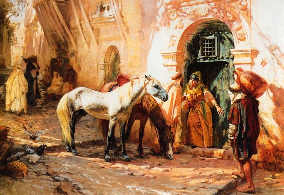 Frederick Arthur Bridgman - Scene in Morocco