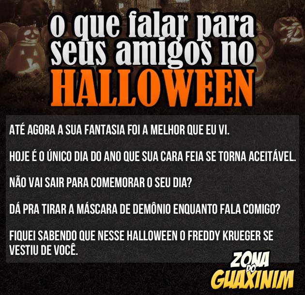 O que falar para seus amigos no Halloween