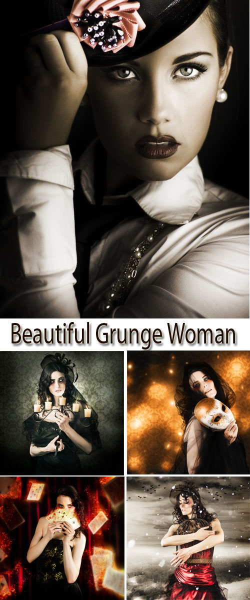 Stock Photo: Beautiful Grunge Woman