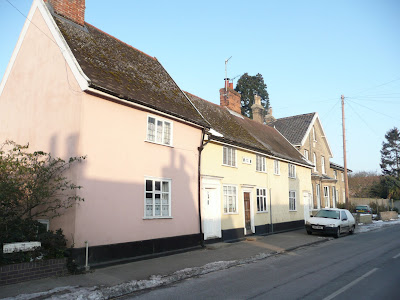 Monks Cottages, probably the oldest houses in Saxmundham and featured on the December 09, 2000 episode of TV series The House Detectives where they investigated a spooky underground room