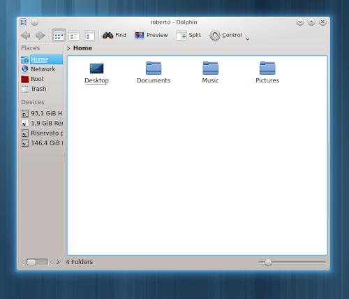 Arch Linux - cartelle home default