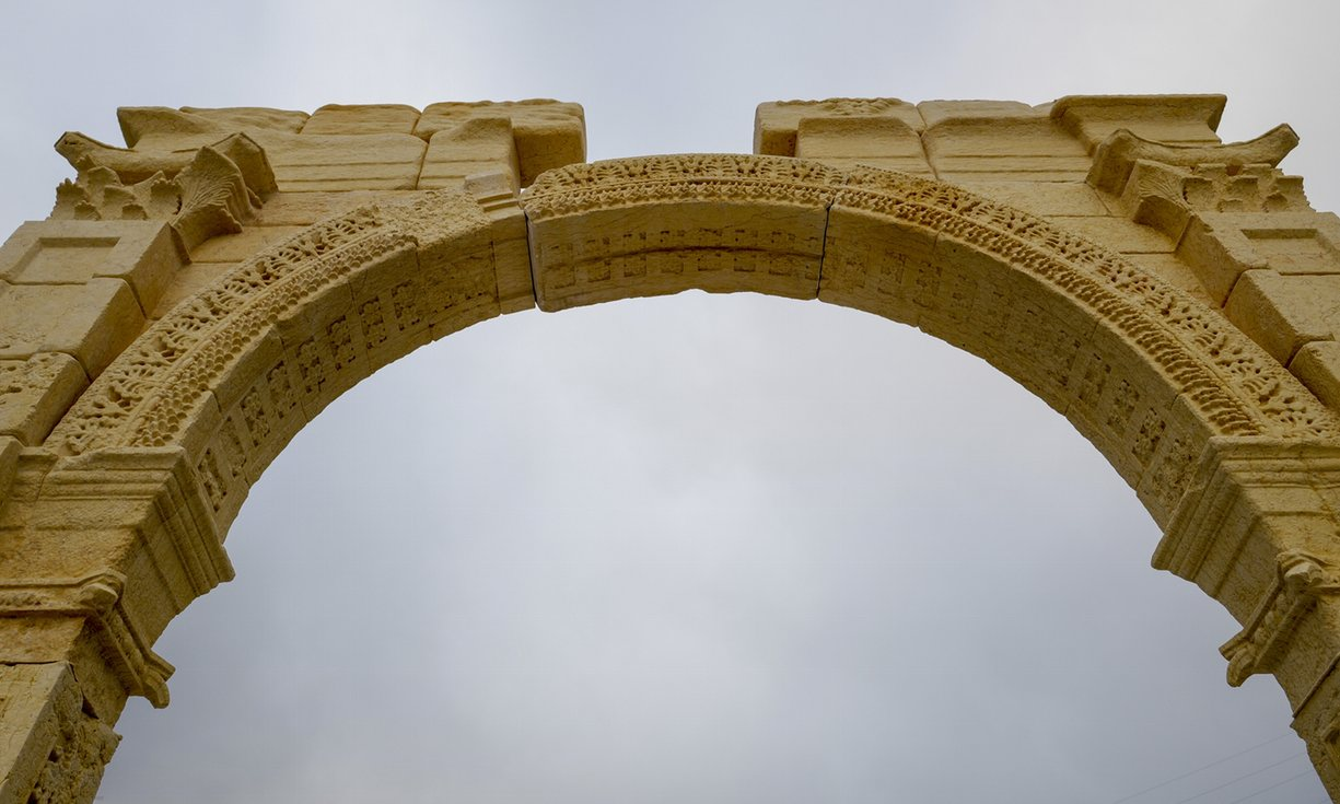 UK: Syria's Palmyra arch recreated in London