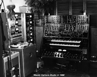 El estudio privado de Wendy Carlos en 1968 durante la grabación de Switched-On Bach