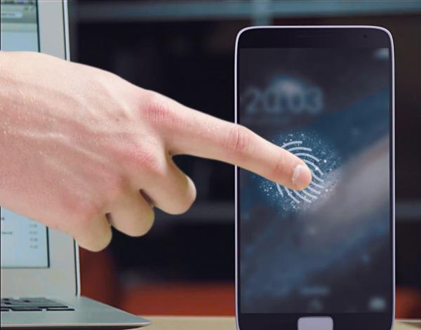 Sensor Sidik Jari Pada Tombol Home Samsung Galaxy S5