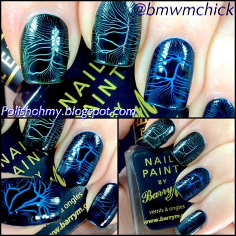 Barry M. 'Mint Green', 'Cyan Blue', & Croc Effects in Black