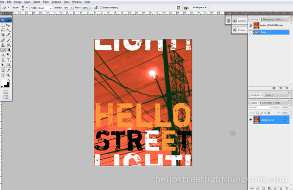 Hello streetlight!: Split Image for Printing on Multiple