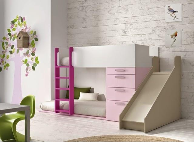 Dormitorios juveniles camas tren