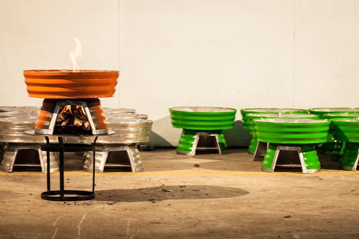 Baker Stoves on the factory floor in Nairobi