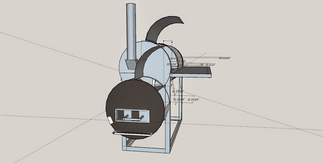 First Build   Patio Hybrid Smoker/Grill Combo
