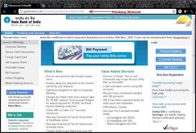 sbi fake site
