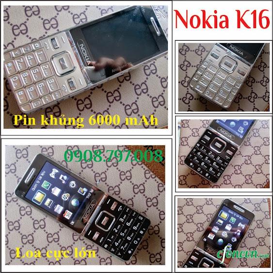 Dien thoai Nokia K16 pin dung luong 6000 mAh