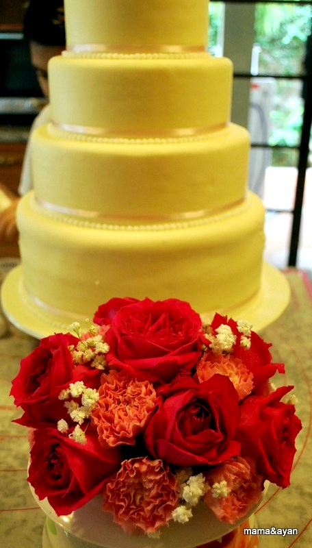 Cakes by Ayan & Mama: WE MADE A RED VELVET WEDDING CAKE