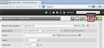 Añadir módulos para agentes en Pandora FMS