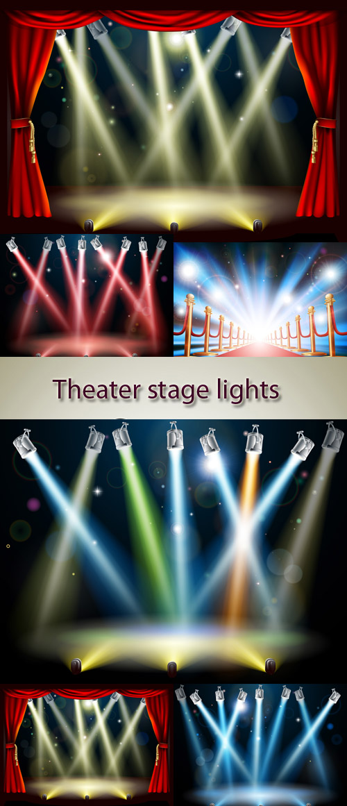 Stock: Theater stage lights