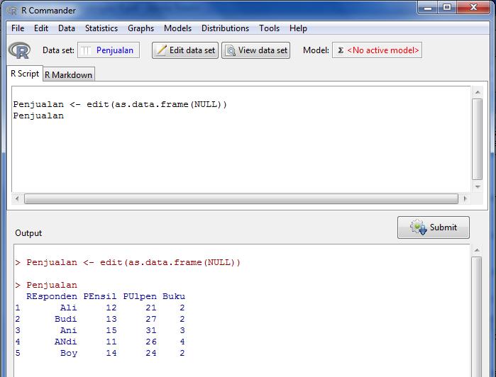 input data r software