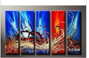 hand-painted oil wall art Passion colorful gay home dec