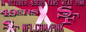 49ers Breast Cancer Awareness Pink Facebook Cover Photo