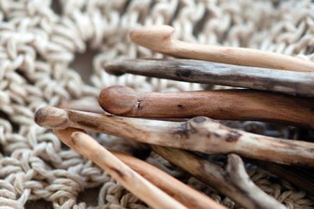 Ganchillos tallados a mano