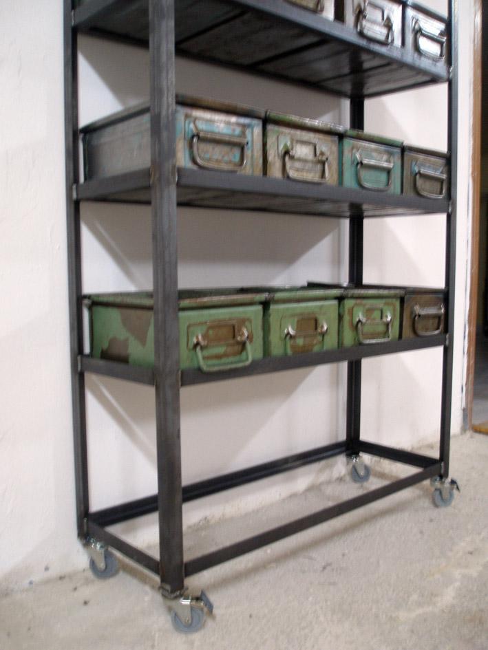 Transportboxes estanter a industrial - Estanteria con ruedas ...