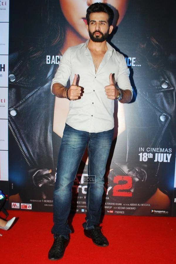 Jay Bhanushali during the promotion of Bollywood movie Hate Story 2, held in Mumbai, on July 12, 2014. (Pic: Viral Bhayani)